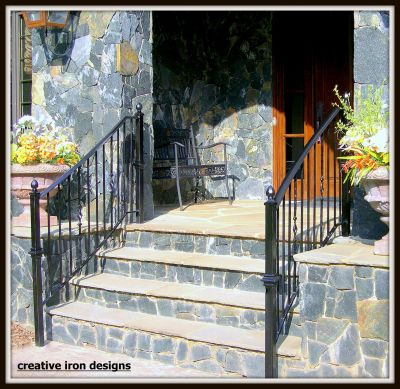 Bold Curved iron Porch Railings & curved iron front porch railings.JPG