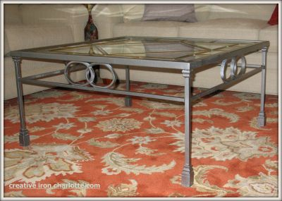 Vintage Leaded Glass Coffee Table