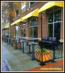 Tupelo Honey Patio Railings With Light Poles