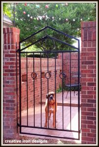Wrought Iron Courtyard Gate