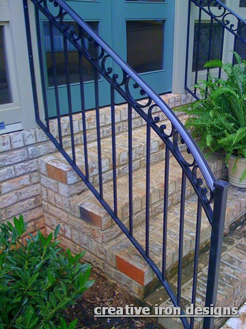 Simple Forged Iron Handrails