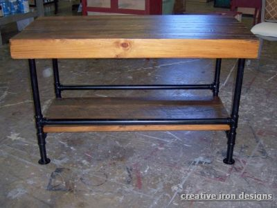 Dining Table Metal Pipe Table