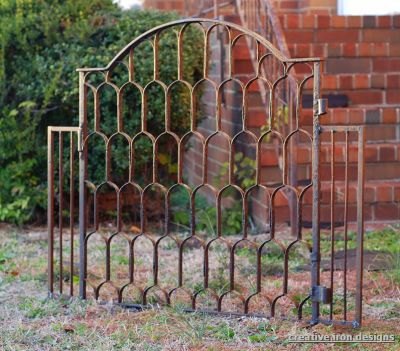 Re purposed Iron Gate Fireplace Screen - Creative Iron Designs