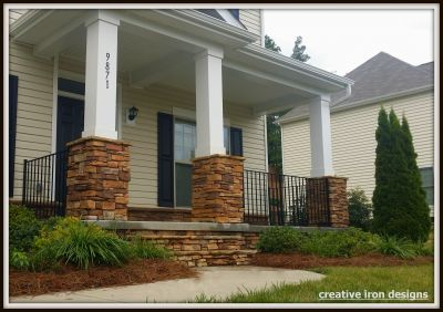 Simple Front Porch Railings