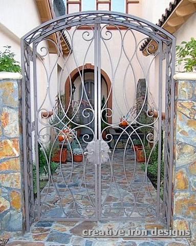 Ordinaire This Wrought Iron Entrance Gate Was Designed And Shipped To LA. The  Customer Still Was Able To Get It More Reasonable Than The Cost Of One Made  On The West ...
