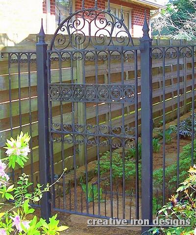 Antique Iron Garden Gate - Gates