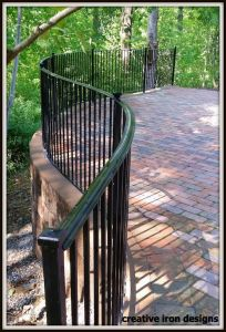 Curved Patio Railings