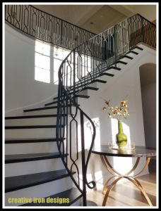 Custom Forged Iron Staircase