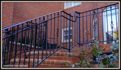 Custom Iron Porch Railings In Charlotte North Carolina