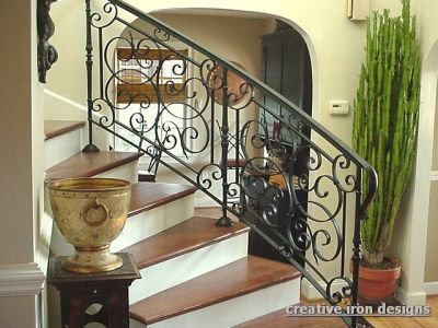In Charlotte Iron Handrails Provide A Very Graceful Look With Elegant Curves Scrolls Architectural Details From Simple Pipe Rails To Old World