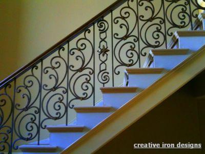 simple elegant wrought iron railing no pickets cast iron scr