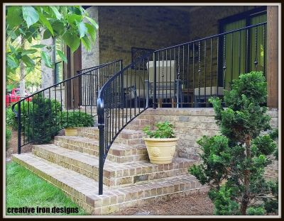 Wall Railings Designs grey walls metal rail tile planting design modern formal balham clapham wandsworth londob Wall Mount Handrail