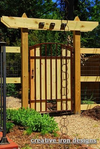 Creative iron designs for Rustic garden gate designs