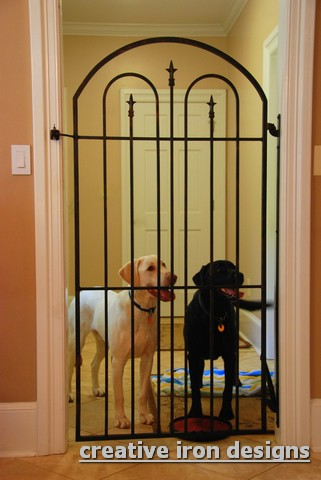 Marvelous Not Intended To Keep Your 60 Pound 4 Legged Family Away While You Eat  Dinner. We Have Made Several Interiors Wrought Iron Gates To Keep ...