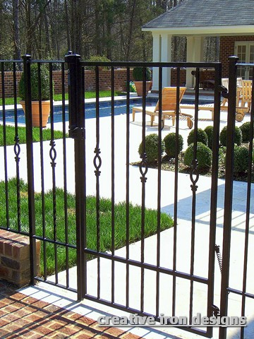 Recently A Client Came To Me With The Need Lock Wrought Iron Gate That Was Used In His Commercial Lobby Presently There No Way Secure Metal