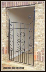 Wrought Iron Scroll Gate